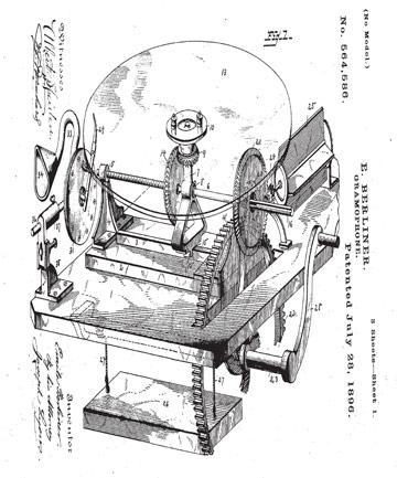 Emile Berliner patent 564.586