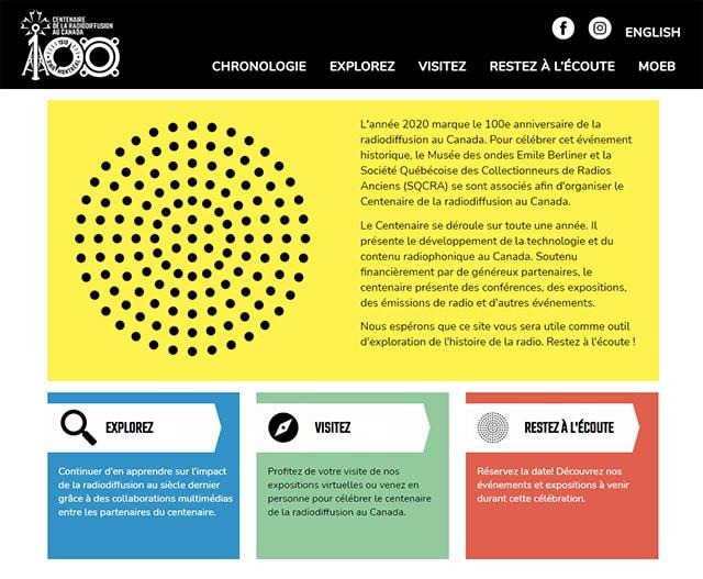 Site Web Radio100